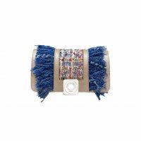 GUS BOBO FLAP - SILVER FULL-GRAIN & SILVER FULL-GRAIN & MULTICOLOR TWEED & BLUE JEAN FRINGES