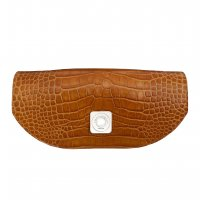 TIPSY FLAP - CAMEL SHINY CROCO & CAMEL SMOOTH