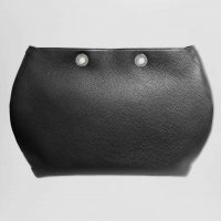TOTE BAG HANDBAG BODY - BLACK BULLCALF LEATHER