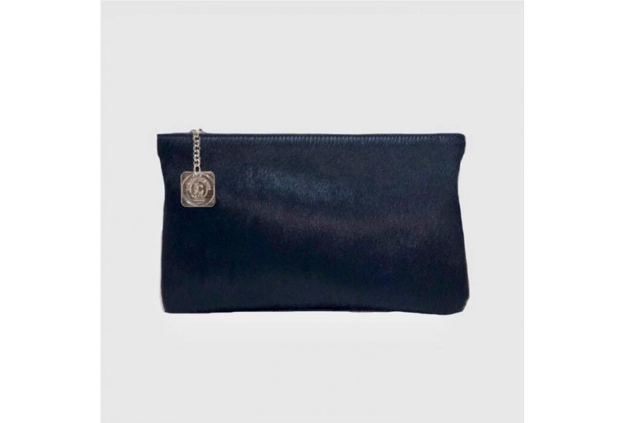 CLUTCH BAG BODY - BLUE PONY-EFFECT FUR