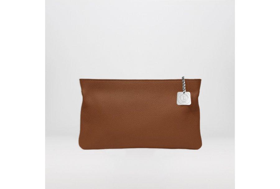 Clutch bag: Camel bullcalf leather