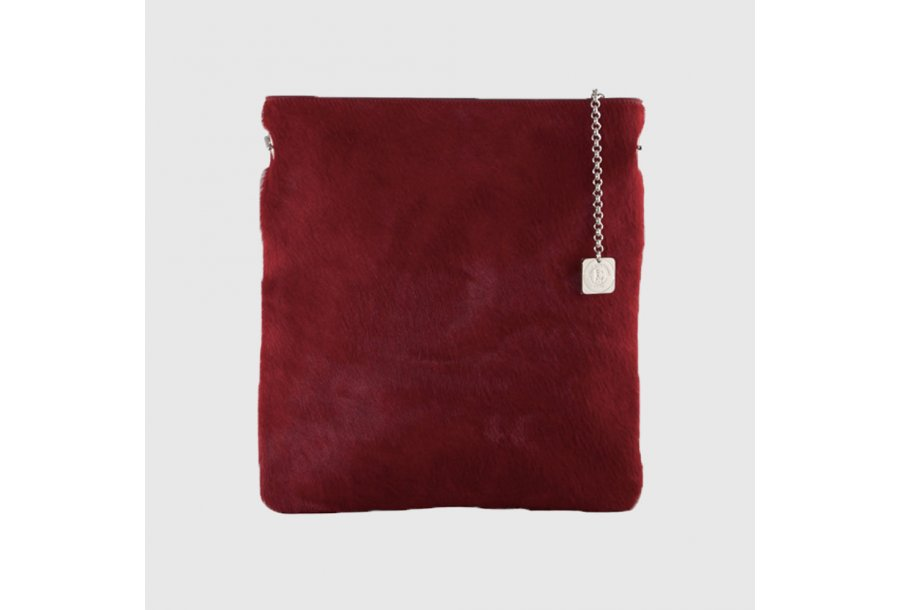 LARGE CLUTCH BAG BODY - BLACK PONY-EFFECT FUR
