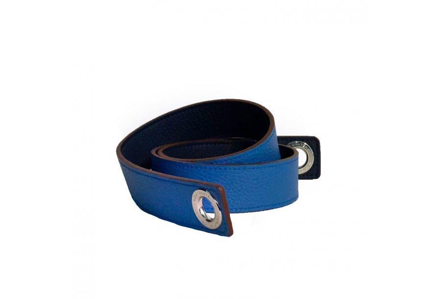 LARGE SHOULDER STRAP 100 - BLUE FULL-GRAIN & BLUE JEAN FULL-GRAIN