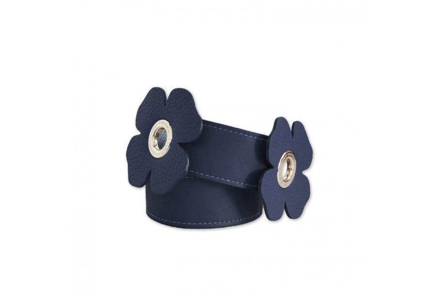 LARGE SHOULDER STRAP 100 CLOVERS - BLUE FULL-GRAIN & BLUE FULL-GRAIN & BLUE FULL-GRAIN