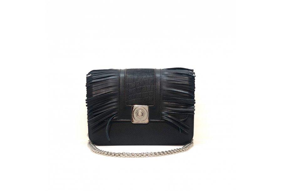 LITTLE BAG Black - GUS STRASS FLAP Black - Chain STRAP