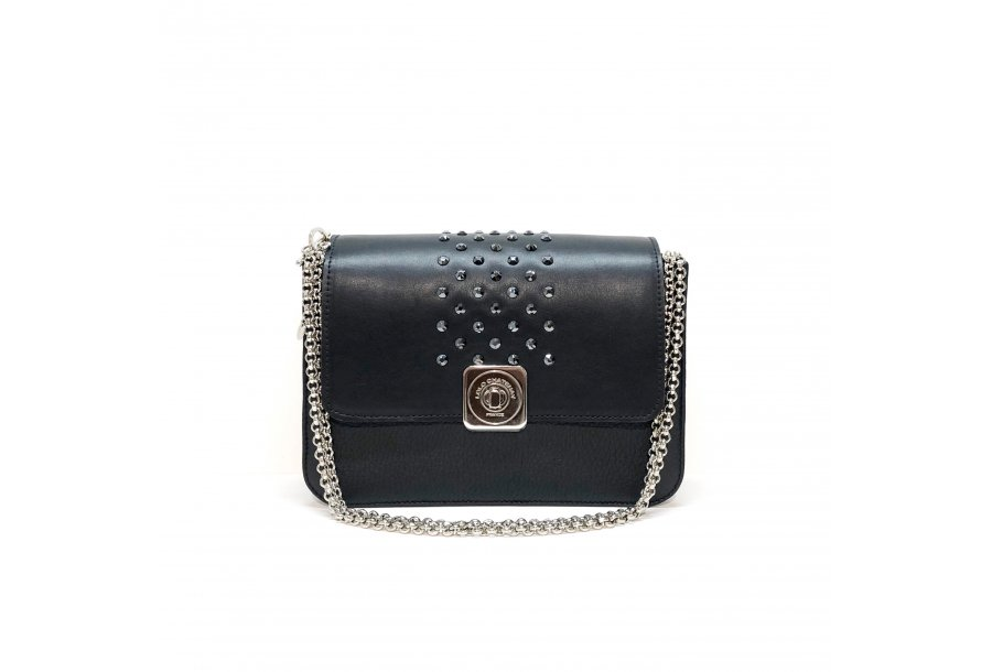 LITTLE BAG Black - GUS STRASS FLAP Black & Zebra - Chain STRAP