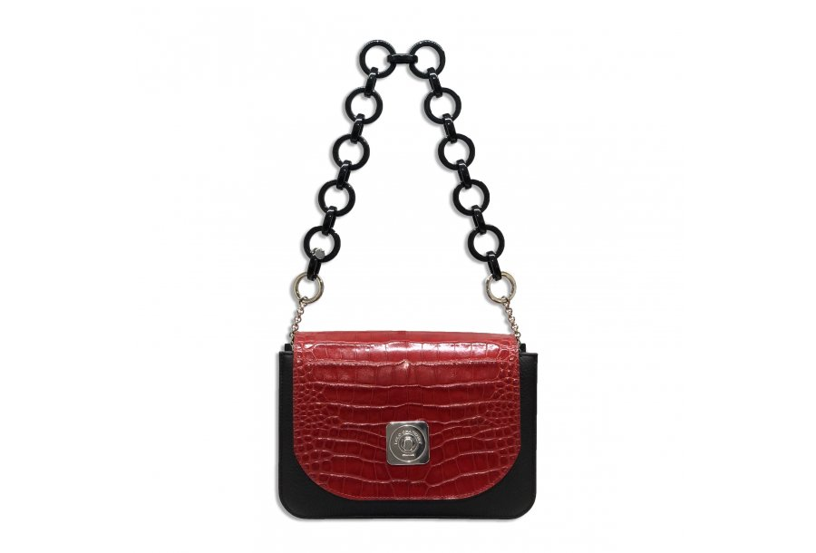 LITTLE BAG Black - GUS TIPSY FLAP Red - SHOULDER-CARRY HANDLE Black Plastic