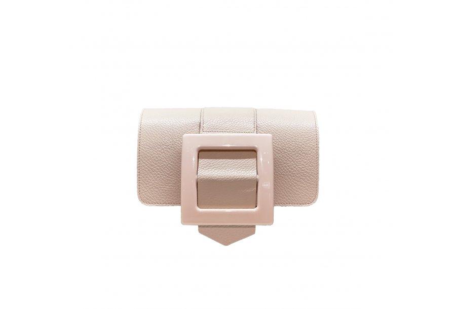 RABAT GUS BOUCLE CARREE - NUDE FULL-GRAIN & RESINE NUDE & NUDE FULL-GRAIN & NUDE FULL-GRAIN