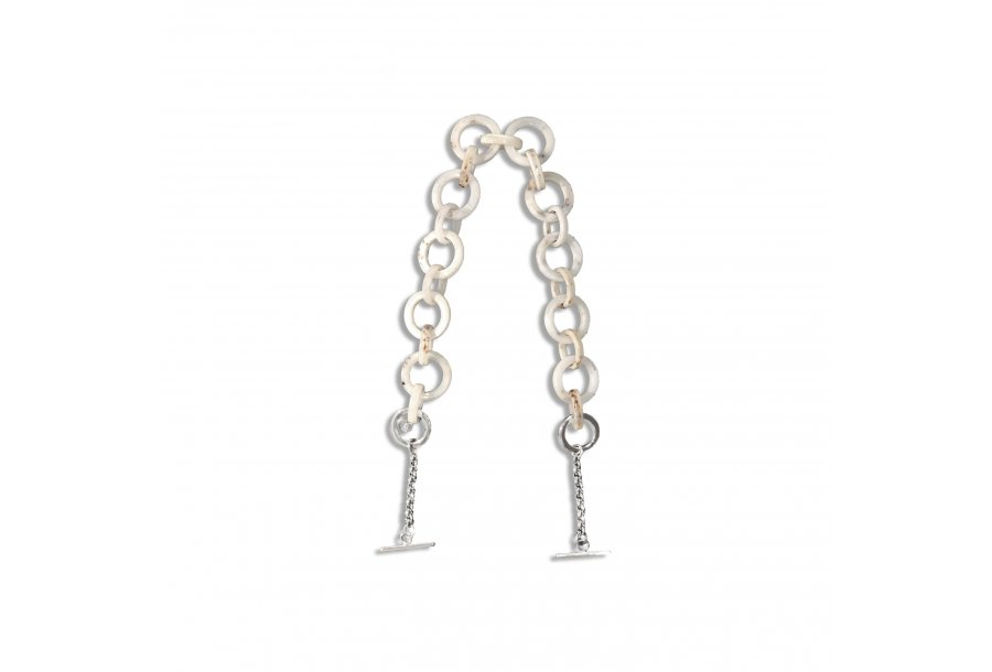 SHOULDER-CARRY HANDLE - WHITE PASTIC CHAIN