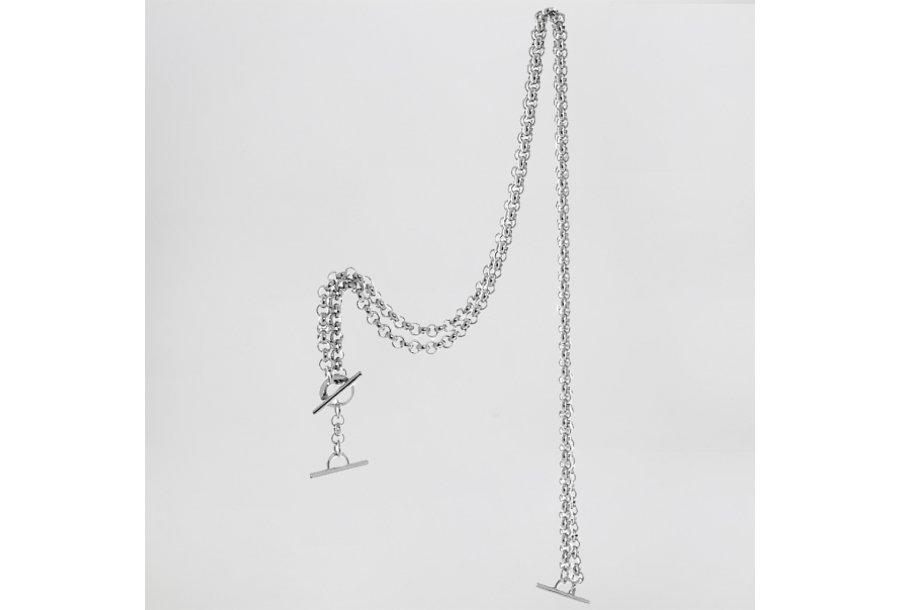 Shoulder strap 120, in Silver-coloured metal