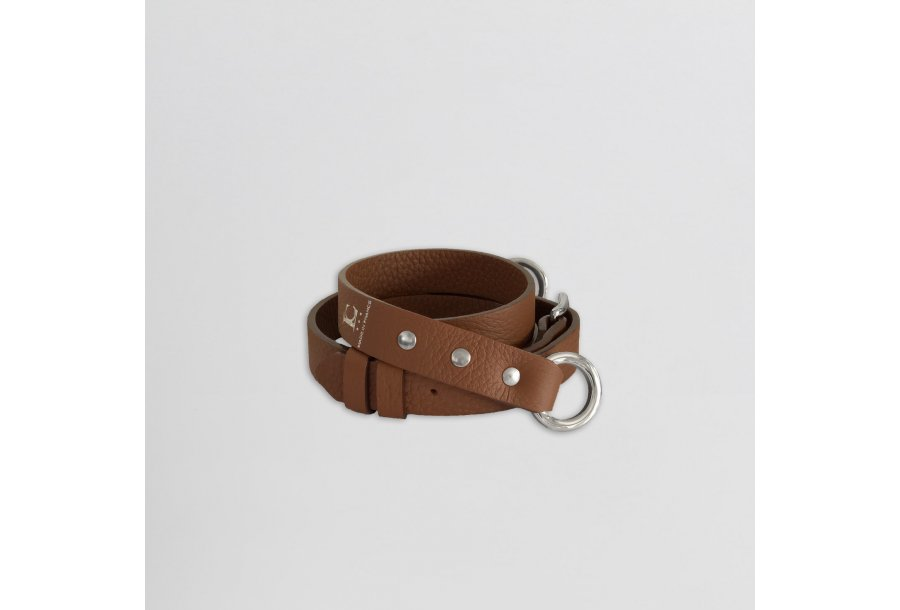 Shoulder strap buckle 97, in Camel bulcalf leather
