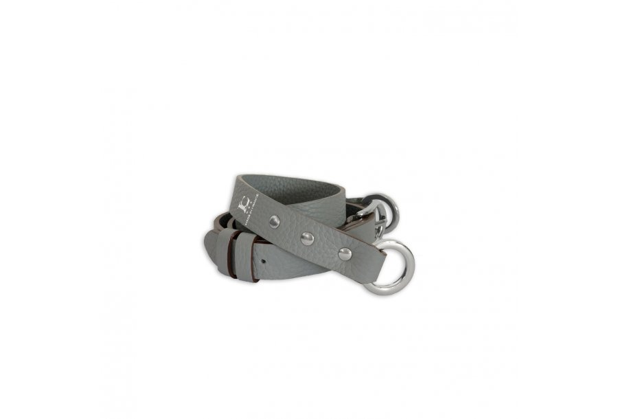 SHOULDER STRAP BUCKLE, IN NUAGE BULCALF LEATHER