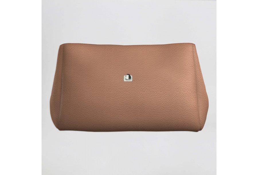 Small handbag body: Camel bullcalf leather