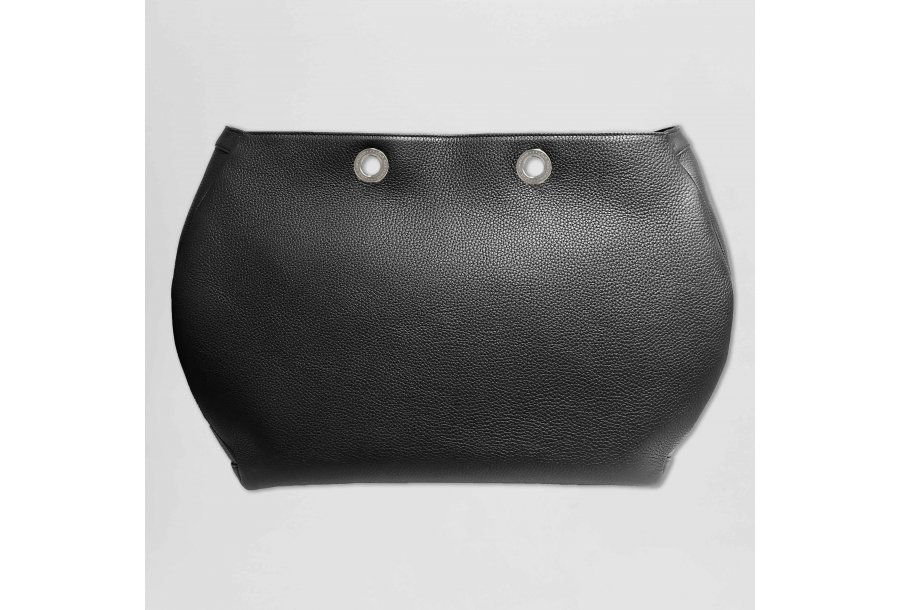 Tote Bag handbag body: Black bullcalf leather
