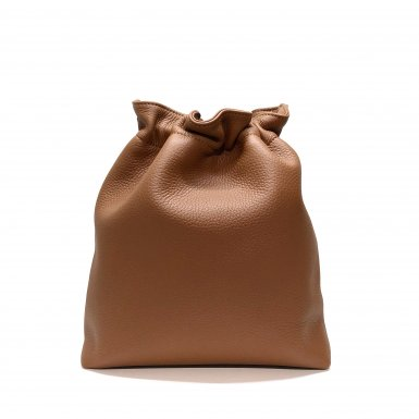 BUCKET HANDBAG BODY - CAMEL BULLCALF LEATHER