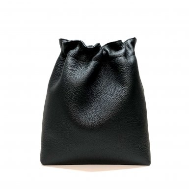 BUCKET HANDBAG BODY - NOIR BULLCALF LEATHER