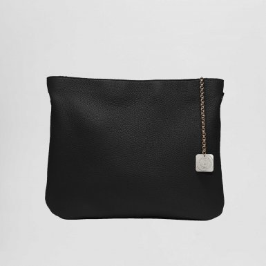Clutch bag: Black bullcalf leather