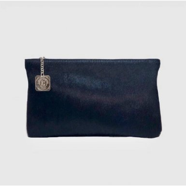 Clutch bag body: Blue pony-effect fur