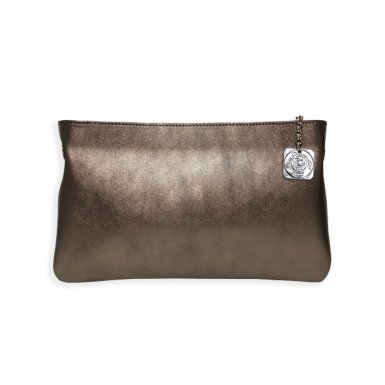 Clutch bag body: calfskin Bronze metallic leather