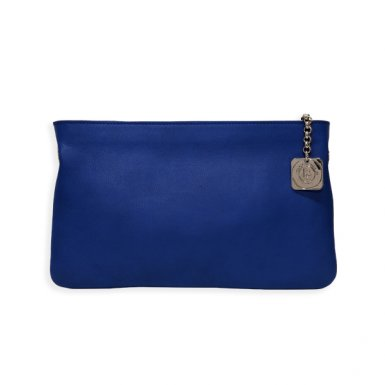 CLUTCH BAG BODY - CHINA BLUE SMOOTH CALFSKIN LEATHER