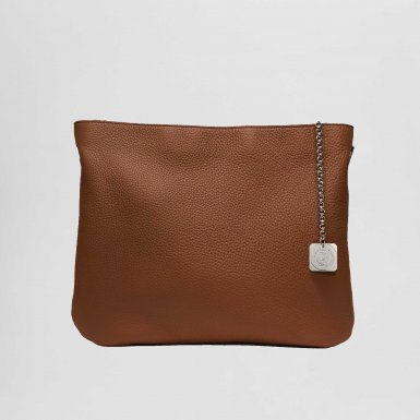 Clutch bag: Camel bullcalf leather
