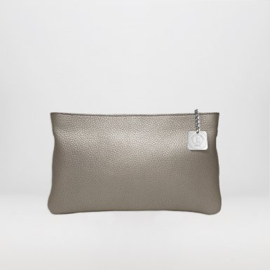 Clutch bag: Silver bullcalf leather