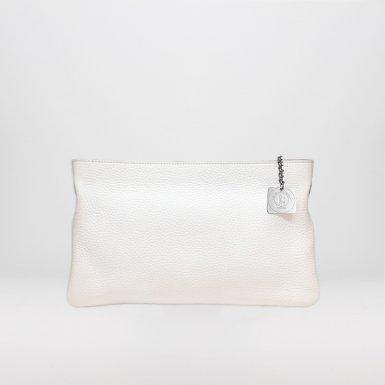 CLUTCH BAG - WHITE BULLCALF LEATHER
