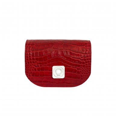GUS TIPSY FLAP - RED SHINY CROCO & BORDEAUX SMOOTH