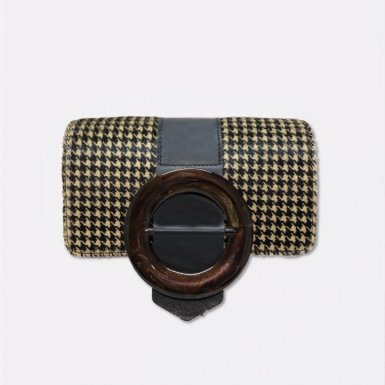 INTERCHANGEABLE GUS CIRCLE FLAP - HOUNDSTOOTH & CIRCLE BLACK