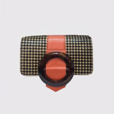 INTERCHANGEABLE GUS CIRCLE FLAP - HOUNDSTOOTH & CIRCLE MANGO