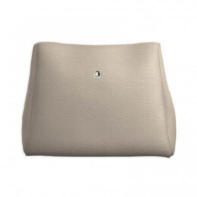 Large handbag body: Taupe bullcalf leather