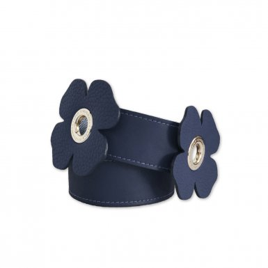 LARGE SHOULDER STRAP 100 CLOVERS - BLUE FULL-GRAIN & BLUE FULL-GRAIN & BLUE FULL-GRAIN