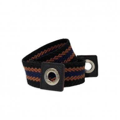 LARGE SHOULDER STRAP FABRIC - BLACK-ORANGE-BLUE & BLACK FULL-GRAIN & BLACK FULL-GRAIN