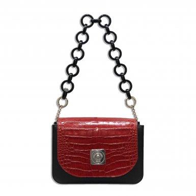 LITTLE BAG Black - GUS TIPSY FLAP Red - SHOULDER-CARRY HANDLE Black Plastic
