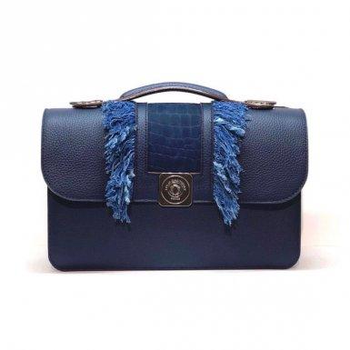 MIDDLE BASE bleu - BOBO FLAP blue & blue - LARGE STRAP blue