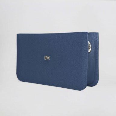 Middle handbag body: Blue bullcalf leather