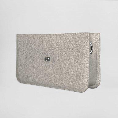 Middle handbag body: Silver bullcalf leather