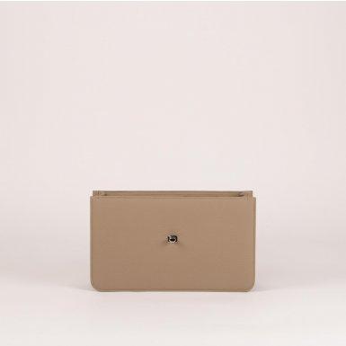 Middle handbag body: Taupe bullcalf leather