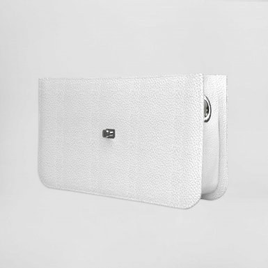 MIDDLE HANDBAG BODY - WHITE BULLCALF LEATHER
