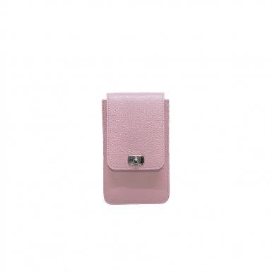 PHONE BOX AND CHAIN STRAP - PURPLE FULL-GRAIN & PURPLE FULL-GRAIN & LEATHER