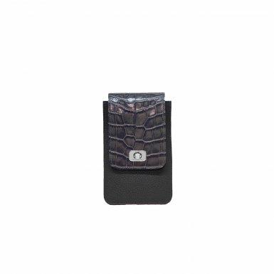 PHONE BOX ET CHAINE - GRIS GRAINE & GREY SHINNY ALLIGATOR & CAMEL SMOOTH & GRIS GRAINE