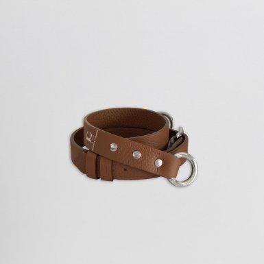 Shoulder strap buckle 97, in Camel bulcalf leather