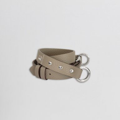 Shoulder strap buckle 97, in Taupe bulcalf leather