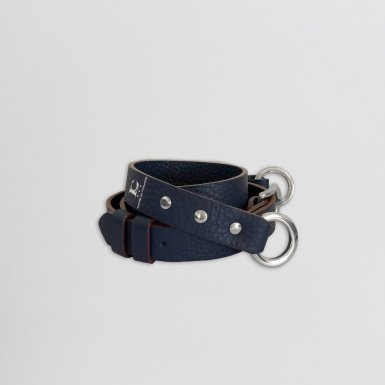 SHOULDER STRAP BUCKLE, IN BLUE BULLCALF LEATHER
