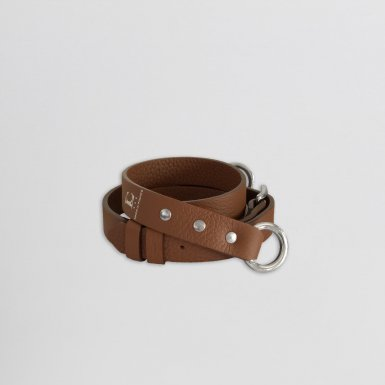 SHOULDER STRAP BUCKLE, IN CAMEL BULCALF LEATHER