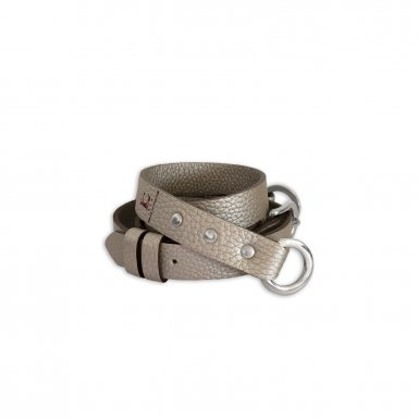 SHOULDER STRAP BUCKLE, IN IRISÉ BULCALF LEATHER