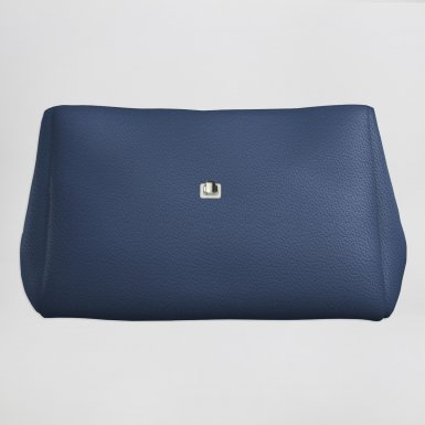Small handbag body: Blue bullcalf leather