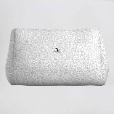 Small handbag body: White bullcalf leather