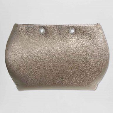 Tote Bag handbag body: Taupe bullcalf leather