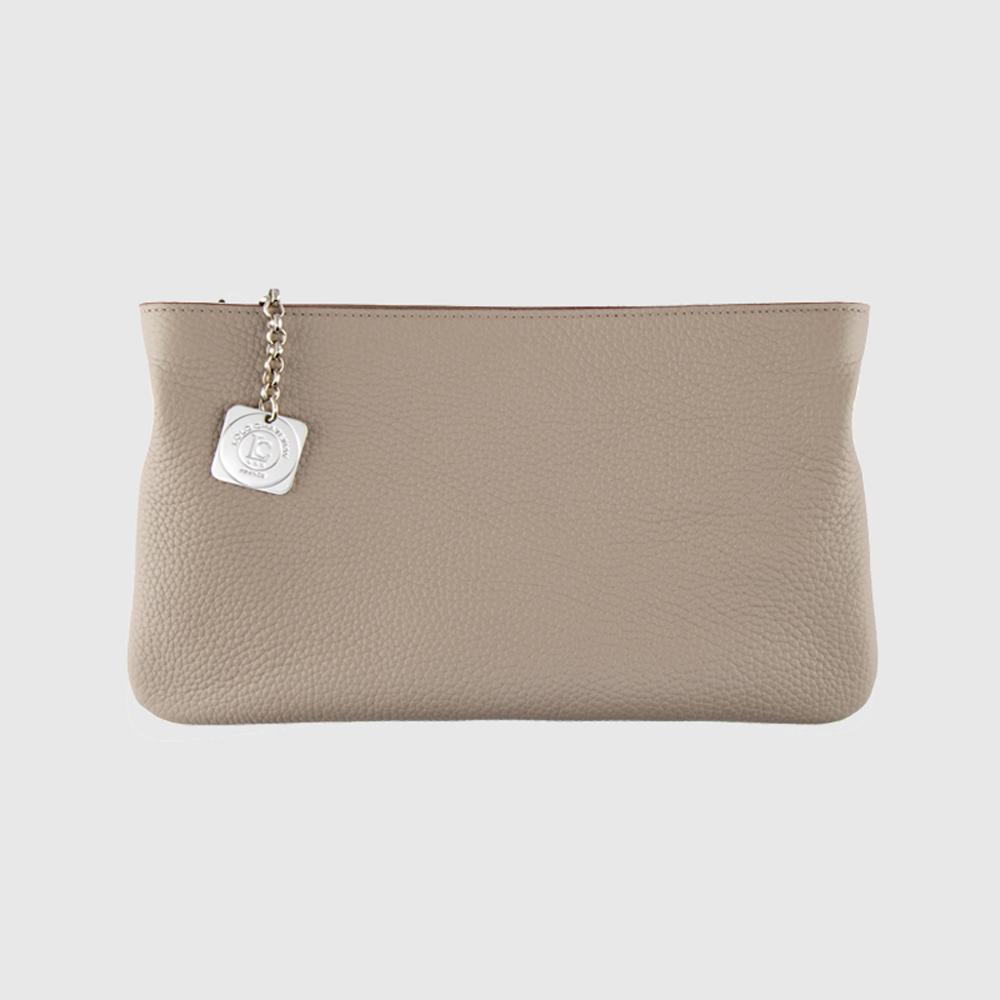 Clutch Bag Taupe Bullcalf Leather